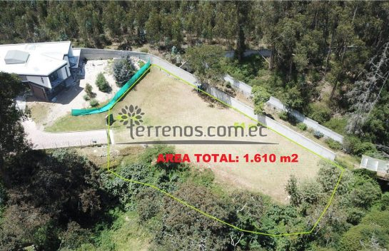 Lote de Venta en Tumbaco 1.610 m2. Urbanización Prados de San Jorge, Ruta Viva
