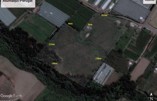 Terreno de venta en Atuntaqui 2,8 hectareas, a 1,6 km del Parque Central