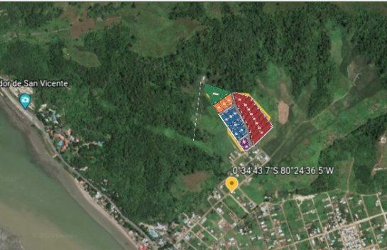 Terreno en venta en San Vicente 2266.67m2 en Lotizacion con vista al mar Lote 19