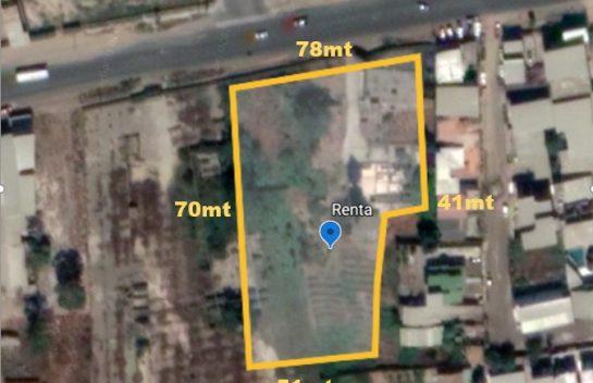 Terreno de renta en Montecristi 5.959 m2. sobre la Via Manta-Montecristi