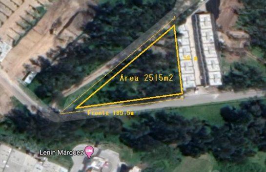 Terreno de Venta en Los Chillos 2.515 m2. Puente 3, Función Judicial.