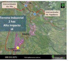 Venta de Terreno Industrial Alto Impacto en Pifo, Inga