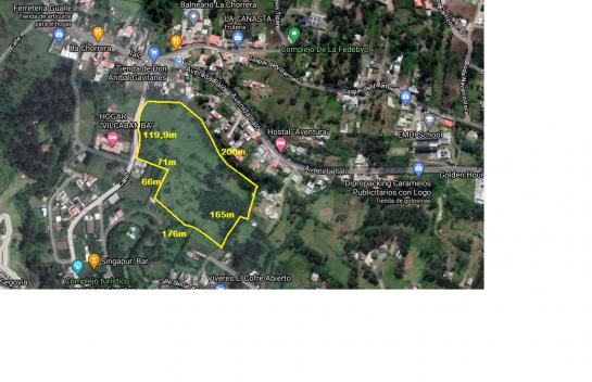 Terreno de venta en Alangasi 4Ha a una cuadra de la Av. Ilalo, perfecto para proyecto VIP
