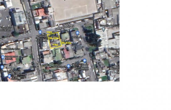 Terreno de venta en Telégrafo y Bracamoros 500 m2, perfecto para construir un edificio