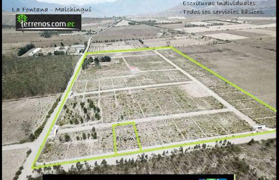 Terreno de venta 806m2 Malchingui. Urbanización Privada.