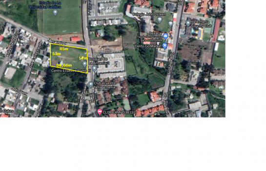 Terreno de venta en La Armenia 4.697 m2, Av. General Rumiñahui