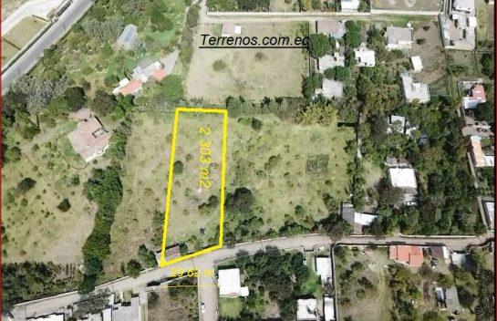Terreno en venta, 2.555 m2, Tumbaco Av. San José.