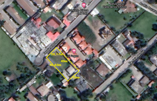 Terreno de venta en Valle De Los Chillos 1.001m2, a pocos metros de la Av. Ilalo
