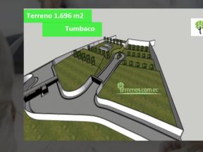 Terreno de venta en Tumbaco 1.696 m2 Sector la Cerámica