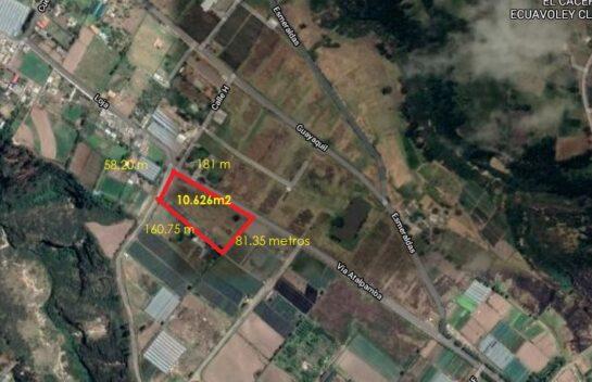 Terreno de Venta en El Quinche, Huertos Familiares El Chamizal 10.626 m2