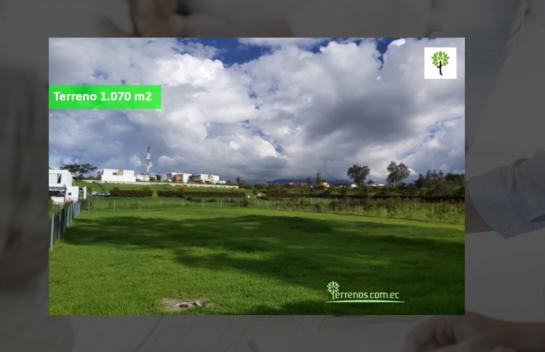 Terreno de venta en Puembo 1.070 m2 Urbanización La Pradera