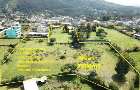 Terreno en venta, Los Chillos 7780m2, Alangasi, San Carlos.