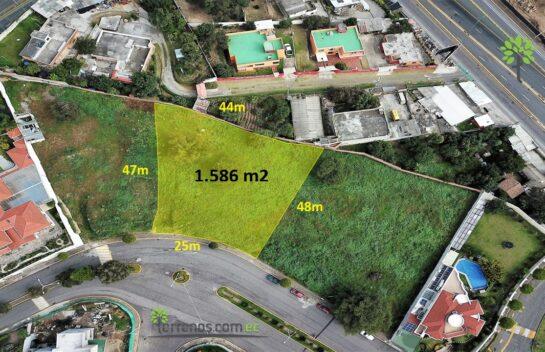 Terreno de venta, Cumbayá 1.580 m2, Urbanización Cumbres del Valle, La Primavera.