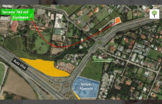 Terreno de venta en Cumbayá 763 m2