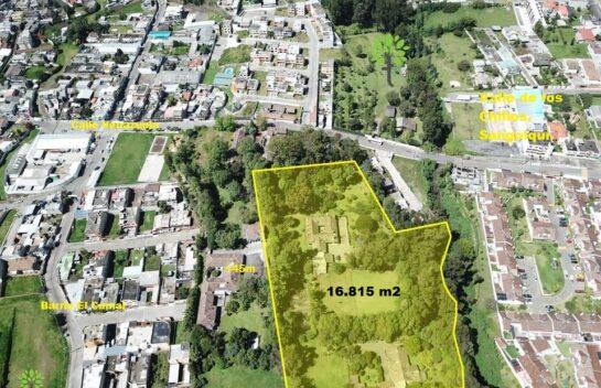 Venta de terreno Sangolquí de 16.815 m2, lote mínimo 300 m2, proyecto inmobiliario..