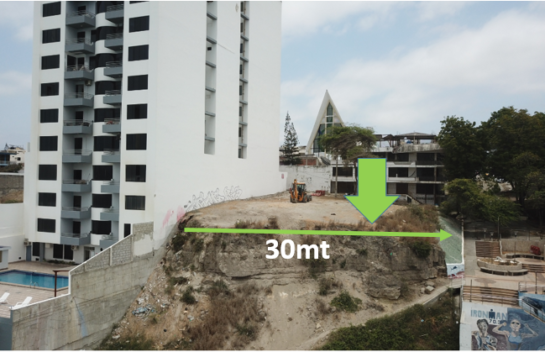 Terreno de venta en Manta1.233 M2 en primera línea de mar de la playa El Murciélago