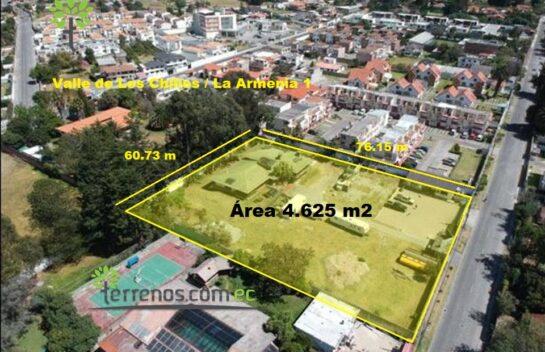 Terreno de venta La Armenia en canje 4.625 m2, Valle de Los Chillos.