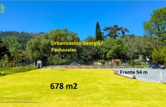 Venta de terreno 678 m2, Tumbaco, Urbanización Georgia, Pachosalas, Ruta Viva.