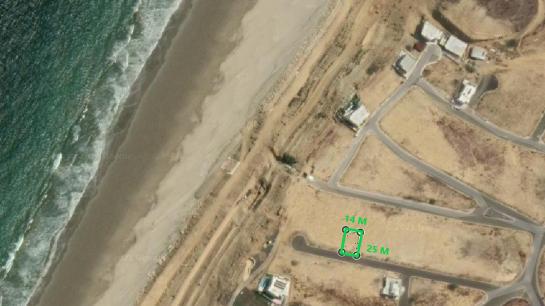 Terreno de venta en playa Santa Marianita (Manta) 350 m2 urbanización Playa Alta