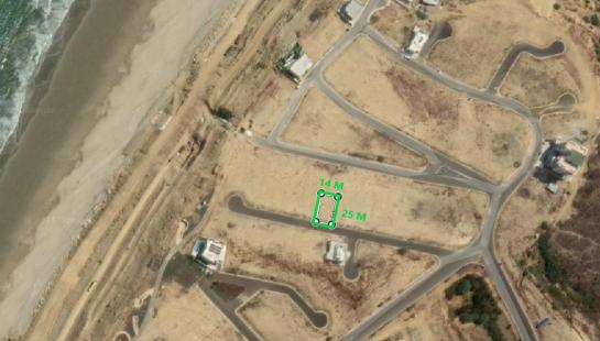 Terreno de venta en playa Santa Marianita (Manta) 350 m2 en urbanización Playa Alta