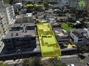 Venta de terreno 468 m2, Voz Andes sector Quito Tenis.