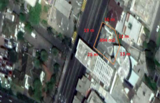 Terreno de venta en 6 de Diciembre y Orellana 494 m2, Quito Norte