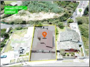 Terreno de venta en Cumbayá 739 m2