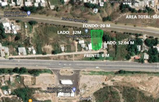 Terreno de venta en conector Vía Circunvalación – San Mateo 668 M2 en la ciudad de Manta