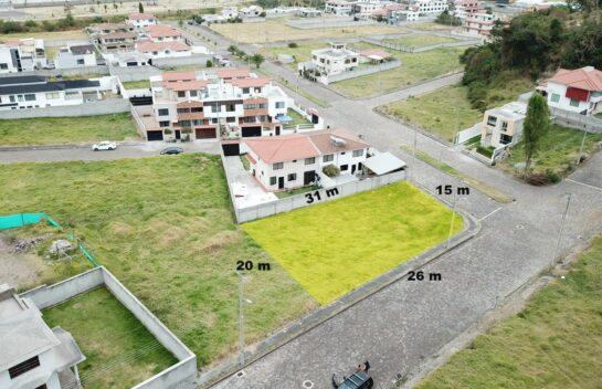 Terreno de venta en Sangolqui, Urbanizacion Copedac, 566 m2 a pocos metros rel redondel del Choclo