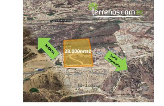 Terreno en venta en Manta Santa Marianita 28.000mts2
