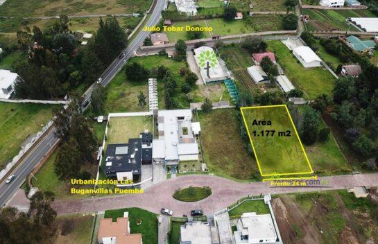 Espectacular terreno de venta, 1.177 m2 Puembo, Urbanización Las Buganvillas.