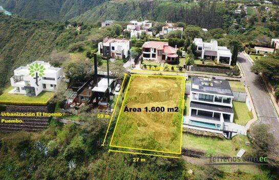 Terreno de venta en Puembo 1.600 m2, Urbanización El Ingenio.