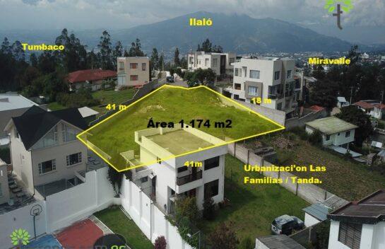 Venta de terreno 1.174 m2 entre Miravalle y Tanda.