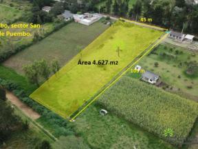 Terreno en venta Puembo 4.627 m2 sector San José de Puembo.