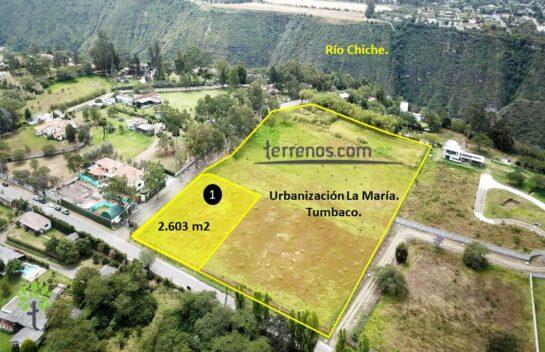 Terreno de venta, 2.603 m2,  Tumbaco Urbanización La María, lote No.1