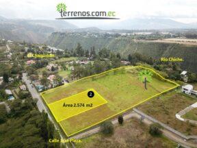 Terreno de venta, 2.574 m2,  Tumbaco Urbanización La María, lote No.2  Copia