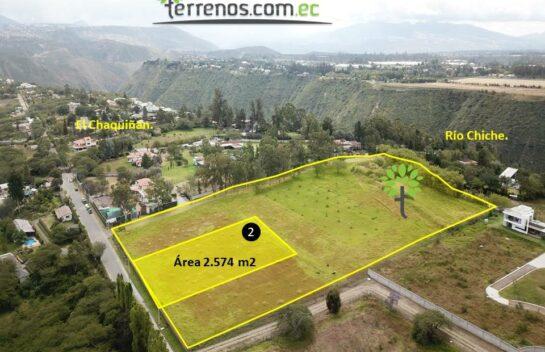 Terreno de venta, 2.574 m2,  Tumbaco Urbanización La María, lote No.2