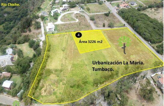 Terreno de venta, 3.226 m2,  Tumbaco Urbanización La María, lote No.4