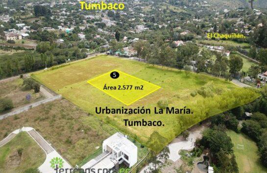 Terreno de venta, 2.577 m2,  Tumbaco Urbanización La María, lote No.5