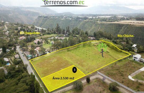 Terreno de venta, 2.530 m2,  Tumbaco Urbanización La María, lote No.3