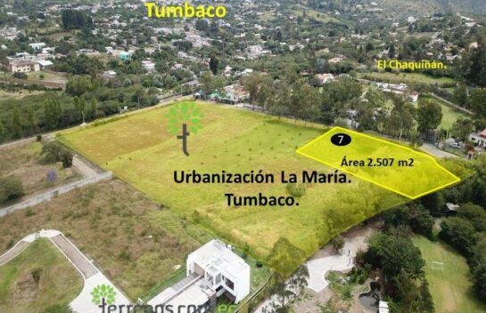 Terreno de venta, 2.504 m2,  Tumbaco Urbanización La María, lote No.7