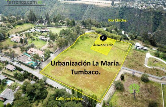 Terreno de venta, 2.501 m2,  Tumbaco Urbanización La María, lote No.8