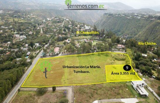 Terreno de venta, 3.355 m2,  Tumbaco Urbanización La María, lote No.9