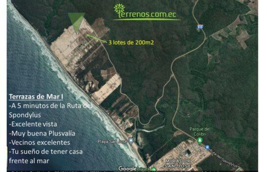 Terreno de venta 200m2, Terrazas del Mar I, Playa San José, Spondylus