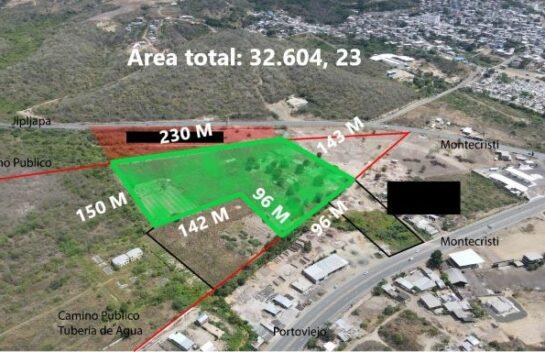 Terreno en venta entre las vías Montecristi-Jipijapa y Montecristi-Portoviejo 32.604,23 M2
