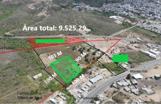 Terreno en venta entre las vías Montecristi-Jipijapa y Montecristi-Portoviejo 9.525,29
