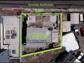 Terreno en venta en excelente ubicación, 330m2 Atahualpa y 10 de Agosto