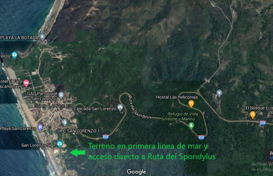 Terreno de Venta en Primera Línea de Mar de La Playa de San Lorenzo (Manta) 3.400 m²
