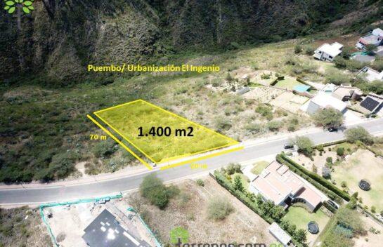 Terreno de venta en Puembo 1.400 m2, Urbanización El Ingenio.
