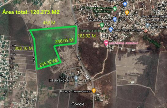 Terreno de Venta en Jaramijó 120273 M² en la  Zona Industrial y Urbana